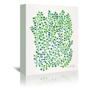 Green ivy by Cat Coquillette Wrapped Canvas