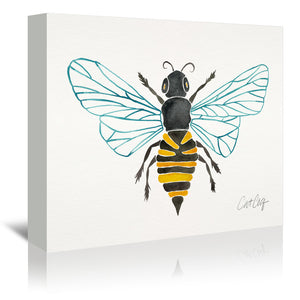 Honey Bee by Cat Coquillette Wrapped Canvas