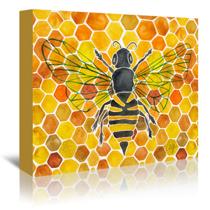 Honey Bee Comb by Cat Coquillette Wrapped Canvas
