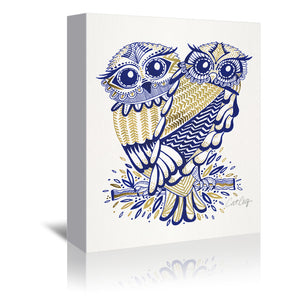 Inked Owls by Cat Coquillette Wrapped Canvas