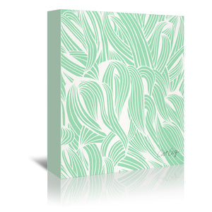 Minty Sea foam by Cat Coquillette Wrapped Canvas