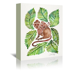 Monkeys by Cat Coquillette Wrapped Canvas