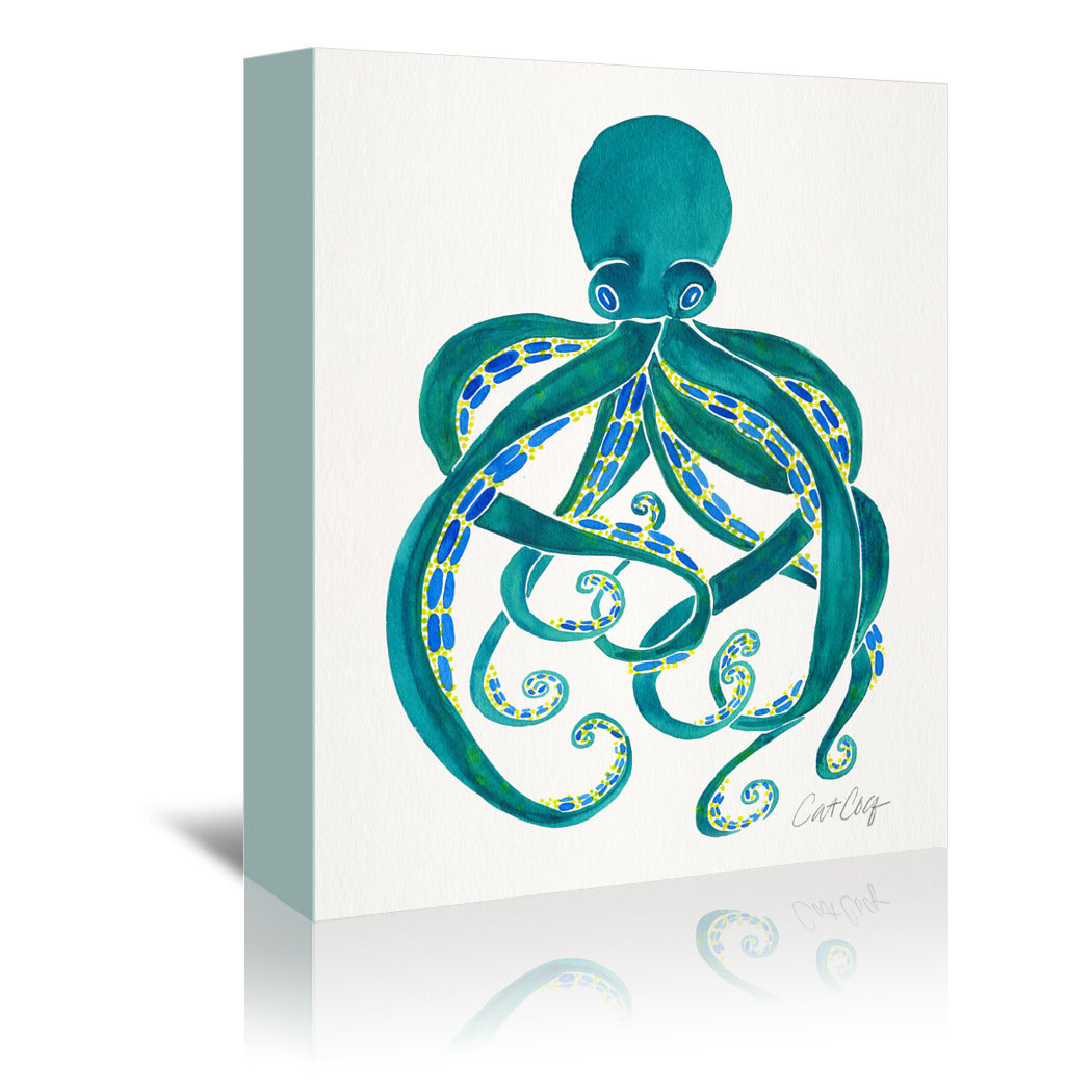 Octopus by Cat Coquillette Wrapped Canvas