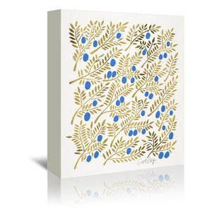 Olive Branches by Cat Coquillette Wrapped Canvas
