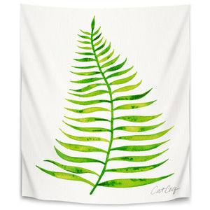 Palm Leaf Lime by Cat Coquillette Tapestry