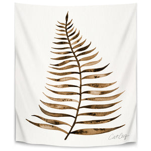 Palm Leaf Sepia by Cat Coquillette Tapestry