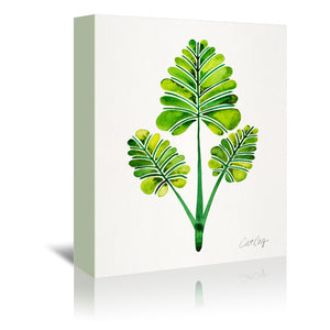 Palm Leaf Trifecta by Cat Coquillette Wrapped Canvas