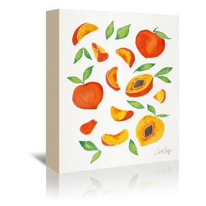 Peaches by Cat Coquillette Wrapped Canvas