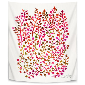 Red Ivy by Cat Coquillette Tapestry