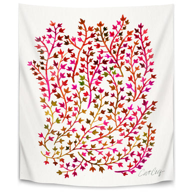Red Ivy by Cat Coquillette Tapestry - Wall Tapestry - Americanflat