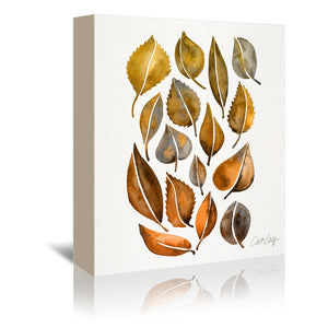 Rusty Fall Leaves by Cat Coquillette Wrapped Canvas