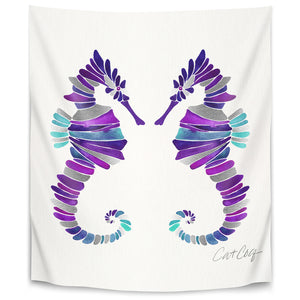Seahorses by Cat Coquillette Tapestry