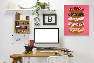 Stacked Donuts by Cat Coquillette Wrapped Canvas