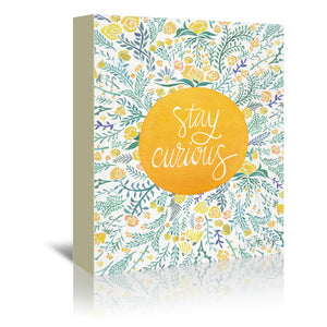 Stay Curious Yellow by Cat Coquillette Wrapped Canvas