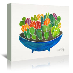 Succulents by Cat Coquillette Wrapped Canvas
