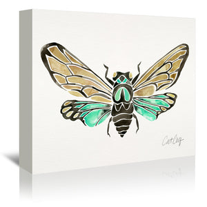 Summer Cicada by Cat Coquillette Wrapped Canvas
