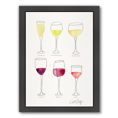 Wine Glass Collection by Cat Coquillette Framed Print - Americanflat