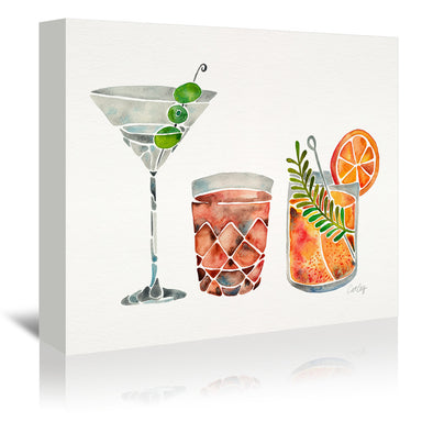 Classic Cocktails by Cat Coquillette Wrapped Canvas - Wrapped Canvas - Americanflat