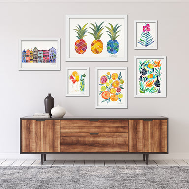 Colorful Tropical Framed Art Set - Framed Print - Americanflat