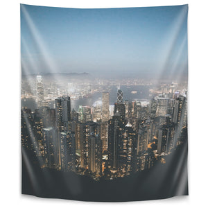 Victoria Peak Hong Kong by Luke Gram Tapestry