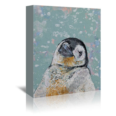 Baby Penguin Snowflakes by Michael Creese Wrapped Canvas - Wrapped Canvas - Americanflat