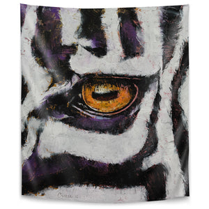 Zebra by Michael Creese Tapestry