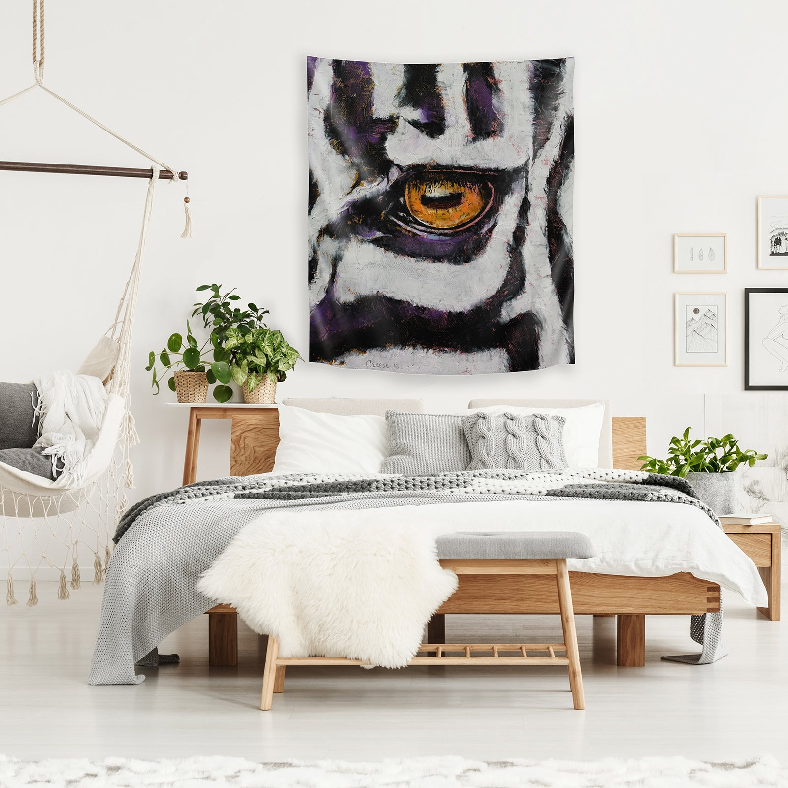 Zebra By Michael Creese Tapestry Americanflat