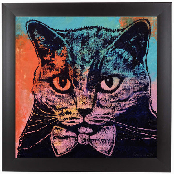 Old School Cat by Michael Creese Framed Print