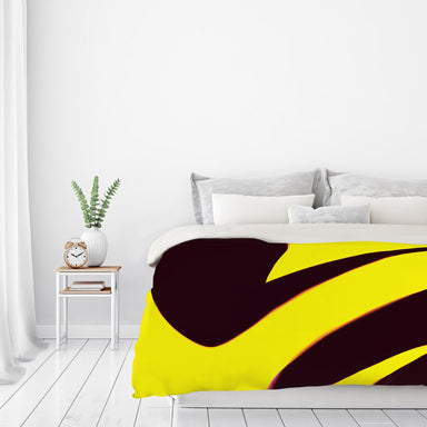 Black And Yellow Abstract by Kasi Minami Duvet Cover - Americanflat