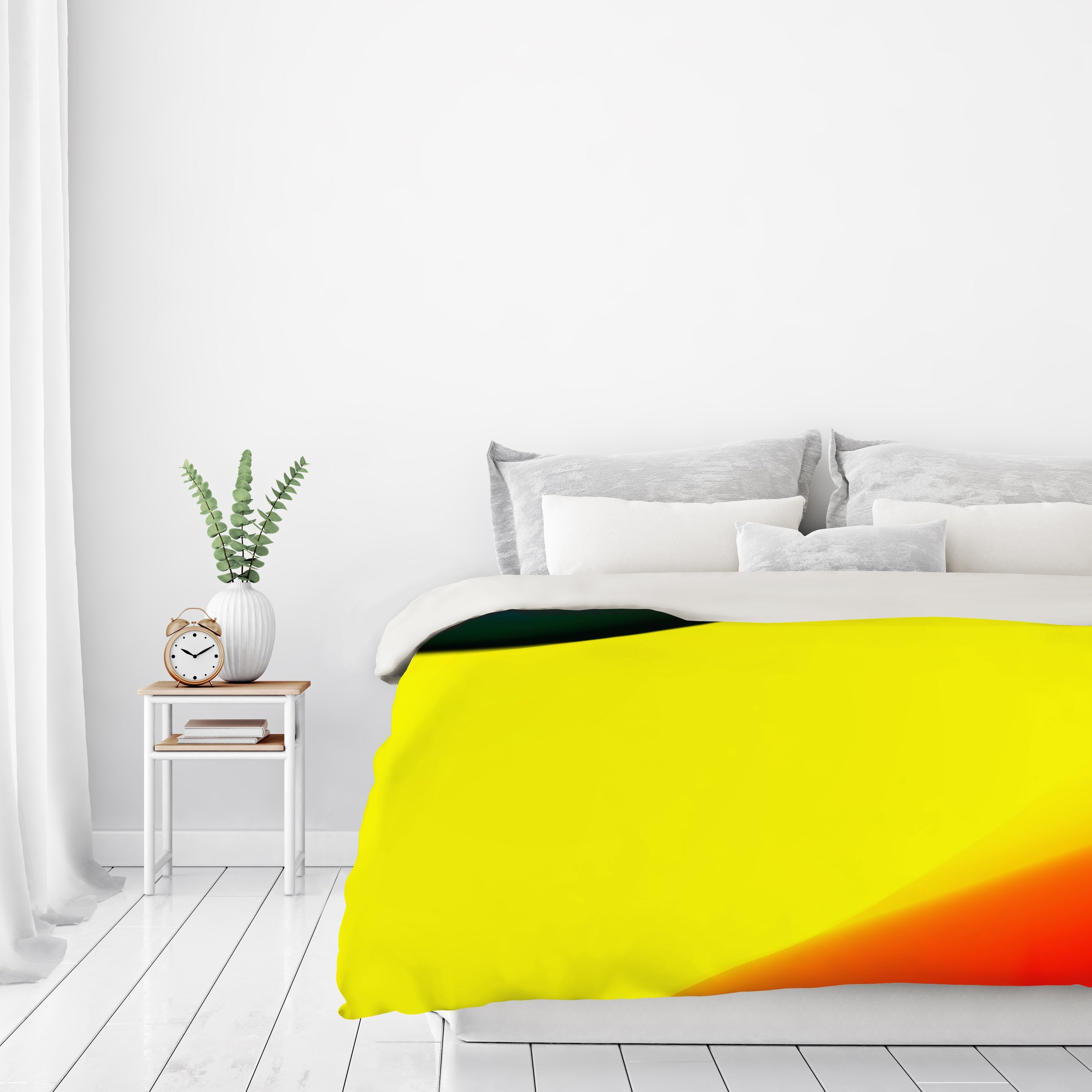Blue Yellow And Red Abstract by Kasi Minami Duvet Cover - Duvet Covers - Americanflat