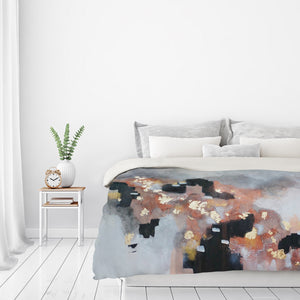 Just Peachy by Christine Olmstead Duvet Cover