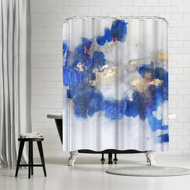 Opening Up by Christine Olmstead Shower Curtain