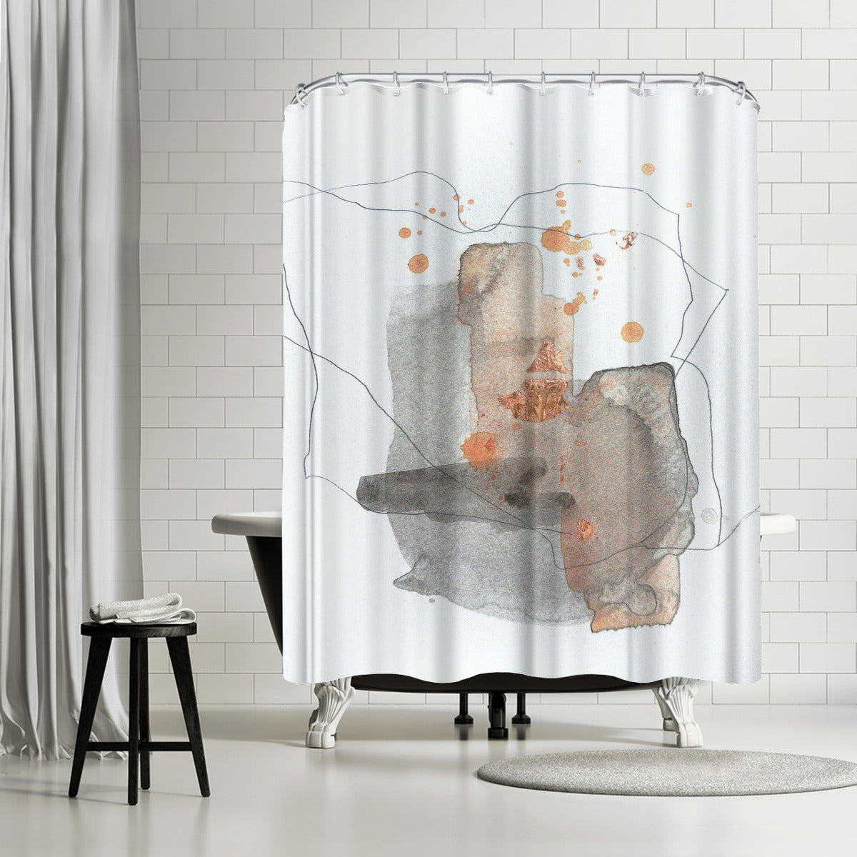 Piece Of Cheer 4 by Christine Olmstead Shower Curtain - Shower Curtain - Americanflat