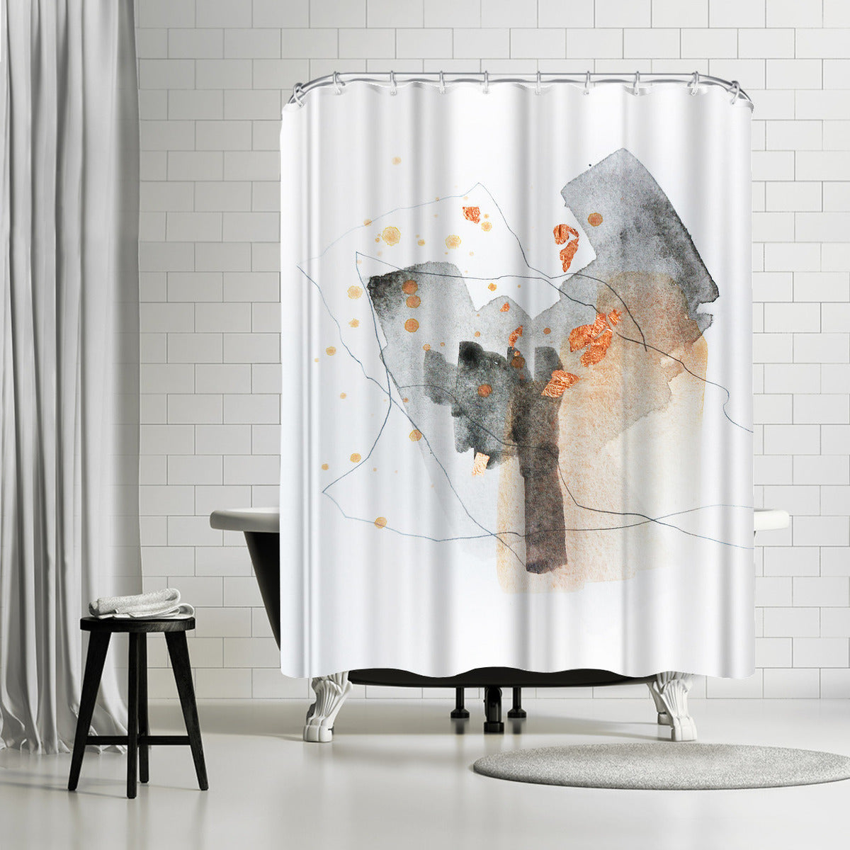 Piece Of Cheer 5 by Christine Olmstead Shower Curtain -  - Americanflat