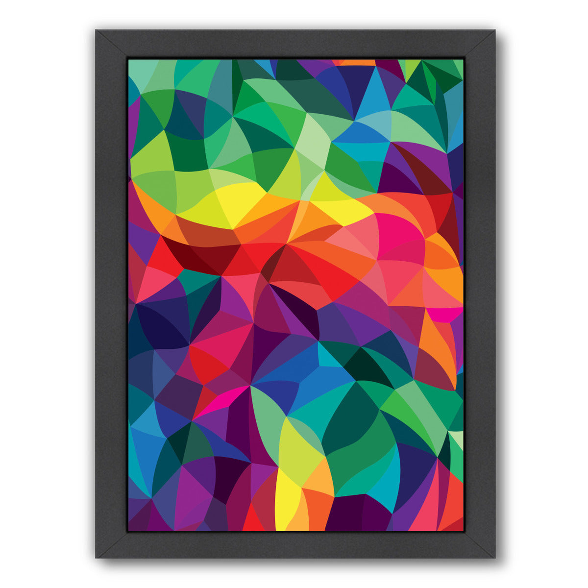 Color Shards by Joe Van Wetering Framed Print - Americanflat