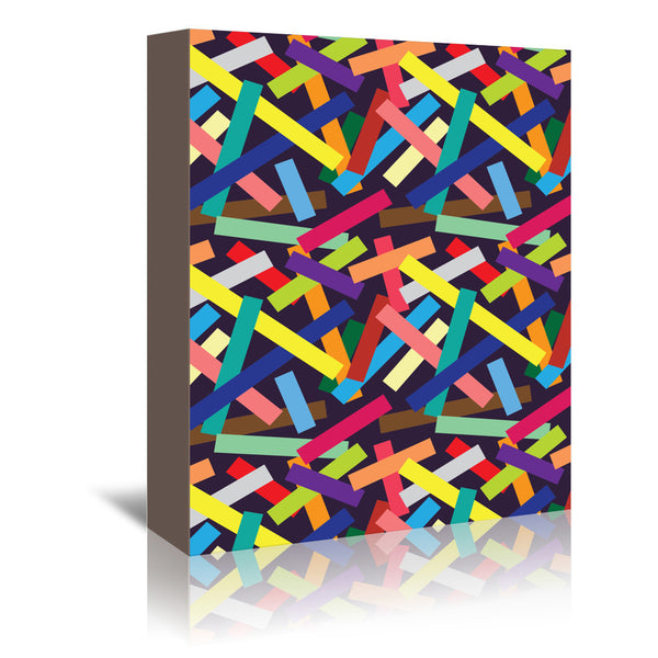 Confetti by Joe Van Wetering Wrapped Canvas