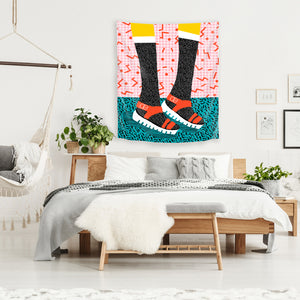 Kicks by Wacka Designs Tapestry
