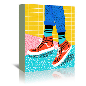 Toe Drag by Wacka Designs Wrapped Canvas