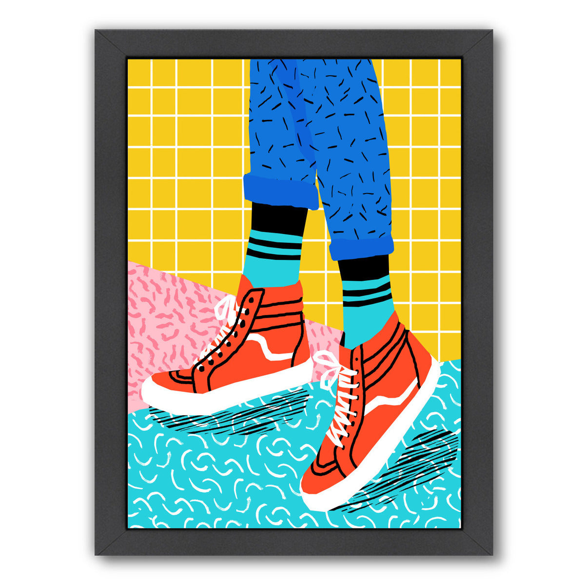 Toe Drag by Wacka Designs Framed Print - Wall Art - Americanflat