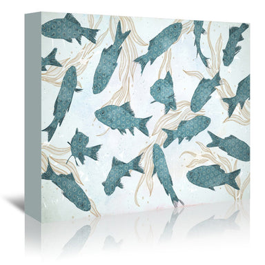 Blue Fish by Tracie Andrews Wrapped Canvas - Wrapped Canvas - Americanflat