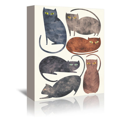 Cats by Tracie Andrews Wrapped Canvas - Wrapped Canvas - Americanflat