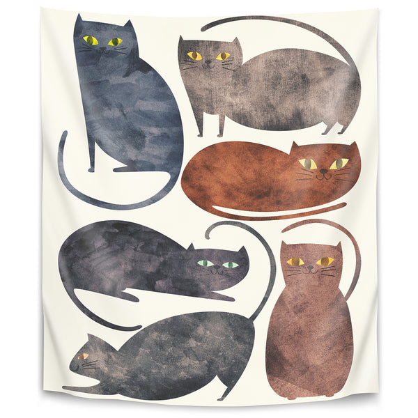 Cats by Tracie Andrews Tapestry