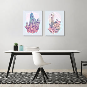 Crystalline by Tracie Andrews - 2 Piece Gallery Wrapped Canvas Set