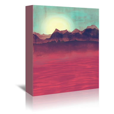 Distant Mountains by Tracie Andrews Wrapped Canvas - Wrapped Canvas - Americanflat