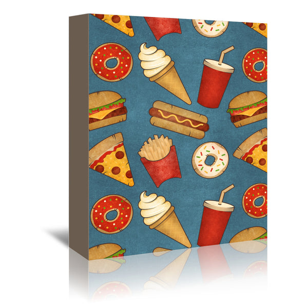 Fast Food by Tracie Andrews Wrapped Canvas
