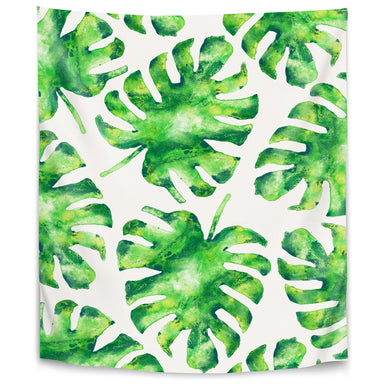 Monstera Leaves by Tracie Andrews Tapestry - Wall Tapestry - Americanflat