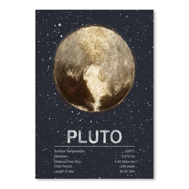 Pluto by Tracie Andrews Art Print - Art Print - Americanflat