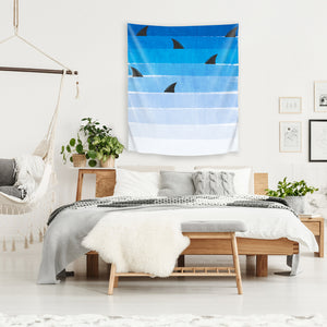 Sharks by Charlotte Winter Tapestry