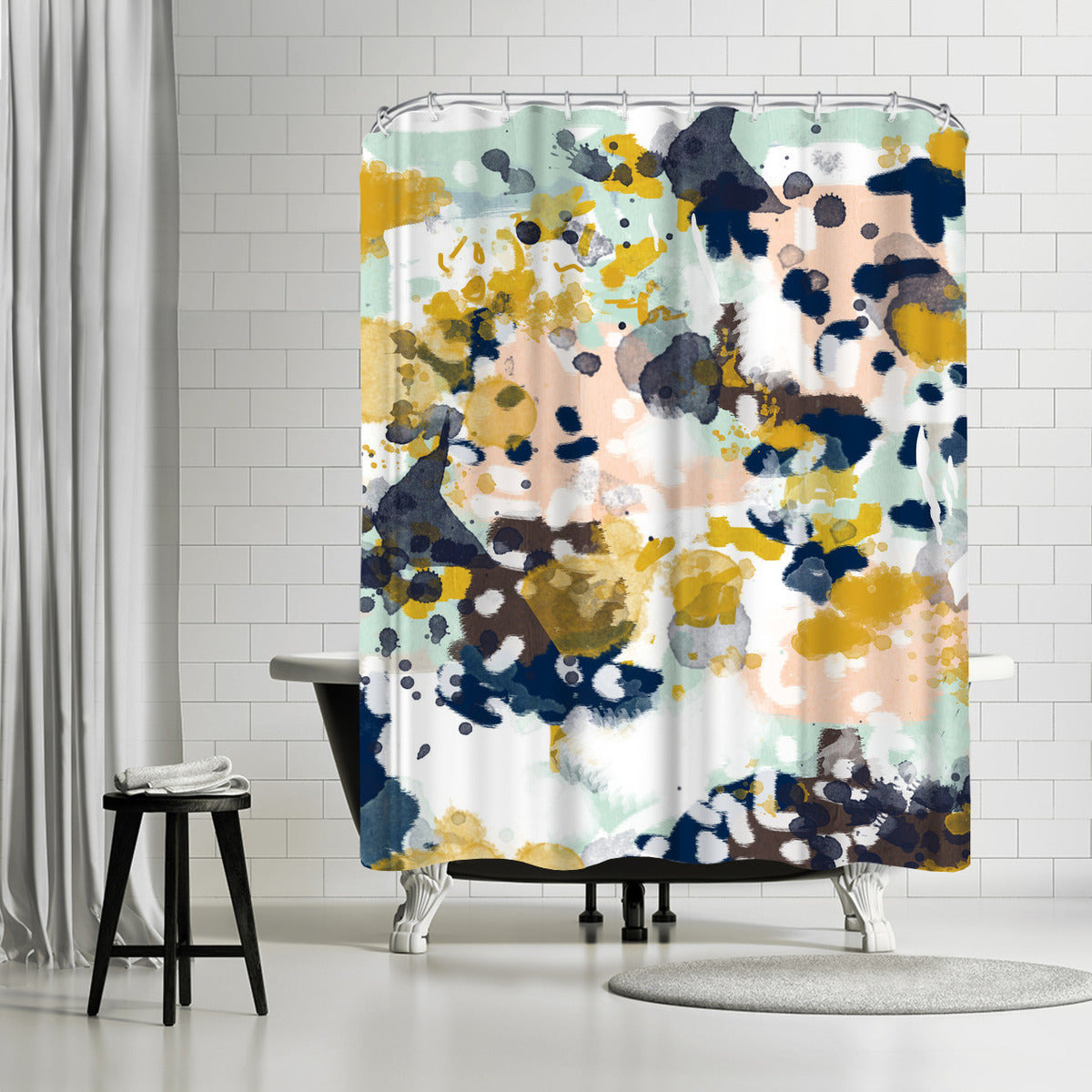 Sloane by Charlotte Winter Shower Curtain - Shower Curtain - Americanflat