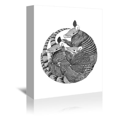Armadillos by Laura Graves Wrapped Canvas - Wrapped Canvas - Americanflat